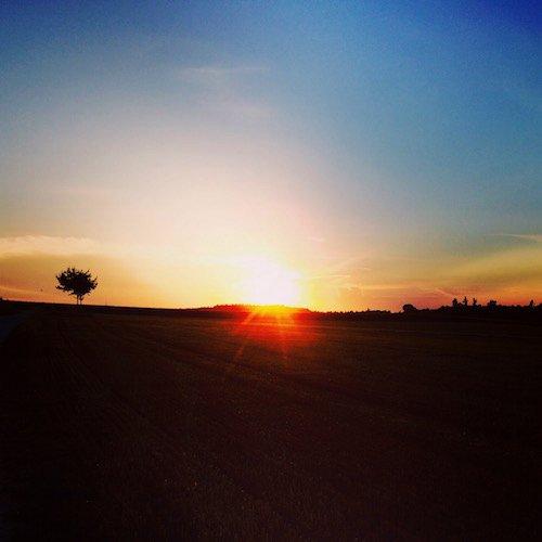 Sonnenuntergang im Ampertal