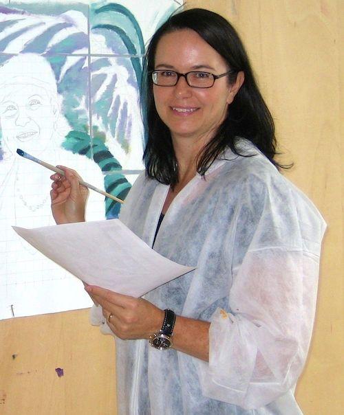 Stephanie Grupe im Atelier (2007)