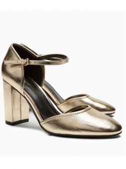 Mary janes in gold
