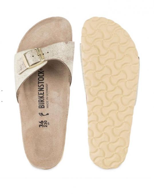 Sandalen birkenstocks madrid in gold