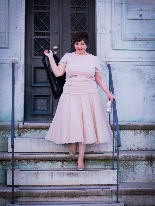 Susanne Ackstaller im Organza-Rock von Modeatelier Hilde Polz