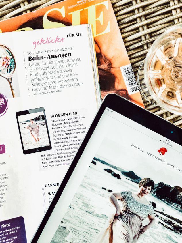 Bloggen 50 plus: Susanne Ackstaller aka Texterella als Empfehlung in der Für Sie