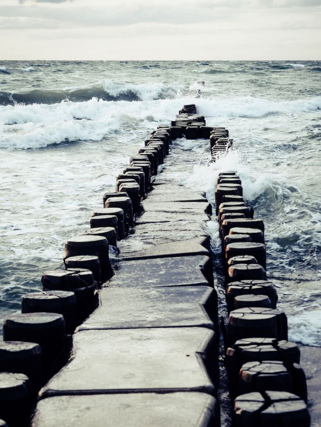 Die wilde Ostsee bei Ahrenshoop