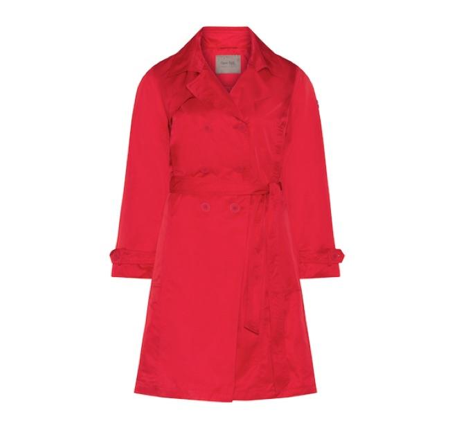 Roter Trenchcoat von Open End in Plussize bis Größe 54