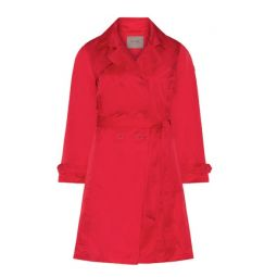 Roter trenchcoat plussize
