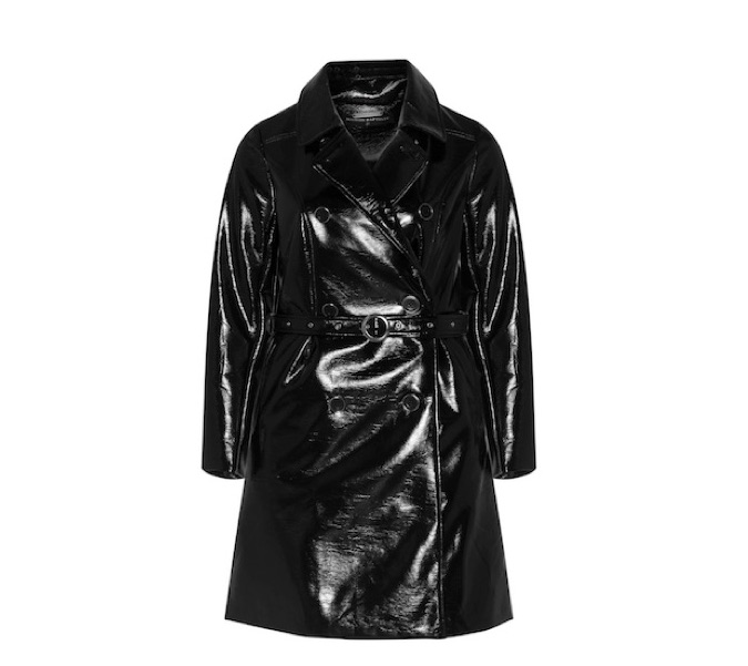 Schwarzer Trenchcoat im Sixties-Style bis Größe 54