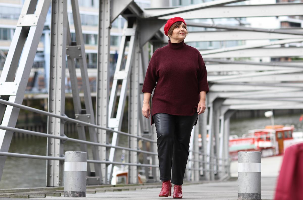 Susanne Ackstaller aka Texterella in der Hafencity in Hamburg