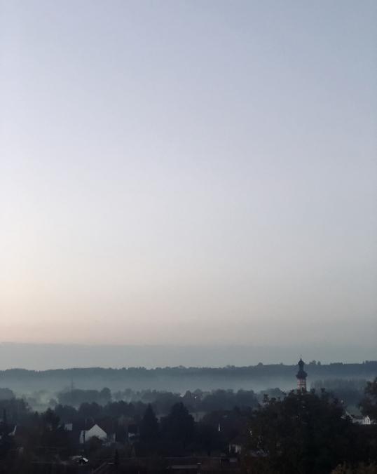 Morgendammerung in kirchdorf an der amper