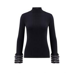 Pullover von steffen schraut mit volants in schwarz 3