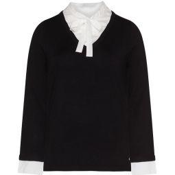 Strick-pullis-jette-2-in1-feinstrick-pullover-schwarz-weiss a52351 f2428-2