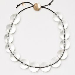 Halskette mit durchsichtigen perlen gros