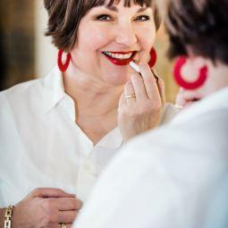 Roter lippenstift 2