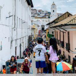 Quito blick auf gasse