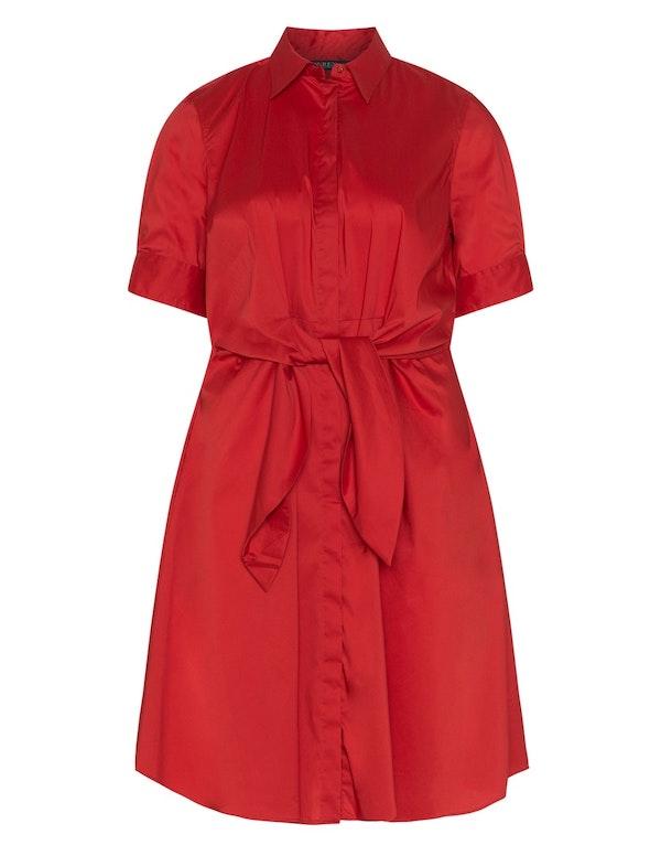 Rotes Kleid von Ralph Lauren.