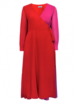 Sheego kleid in rot pink 4