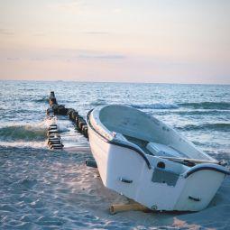 Fischerboot am darss