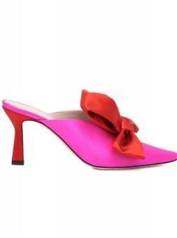 Mules in pink und rot 4