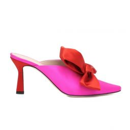 Mules in pink und rot 4