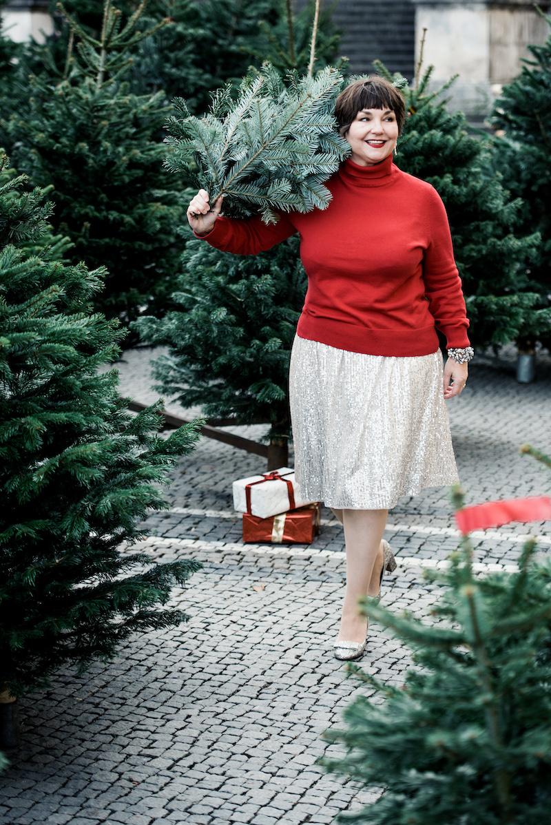 Strickpulli zum Paillettenrock: Das trägt Texterella unterm Weihnachtsbaum!