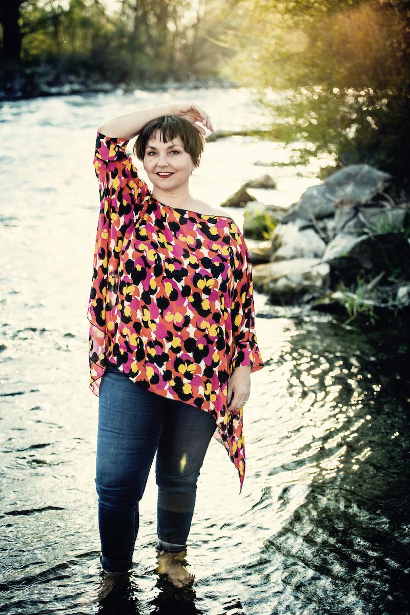Texterella Susanne Ackstaller trägt heute ihre Lieblingstunika für den Sommer 2020 im Blog.