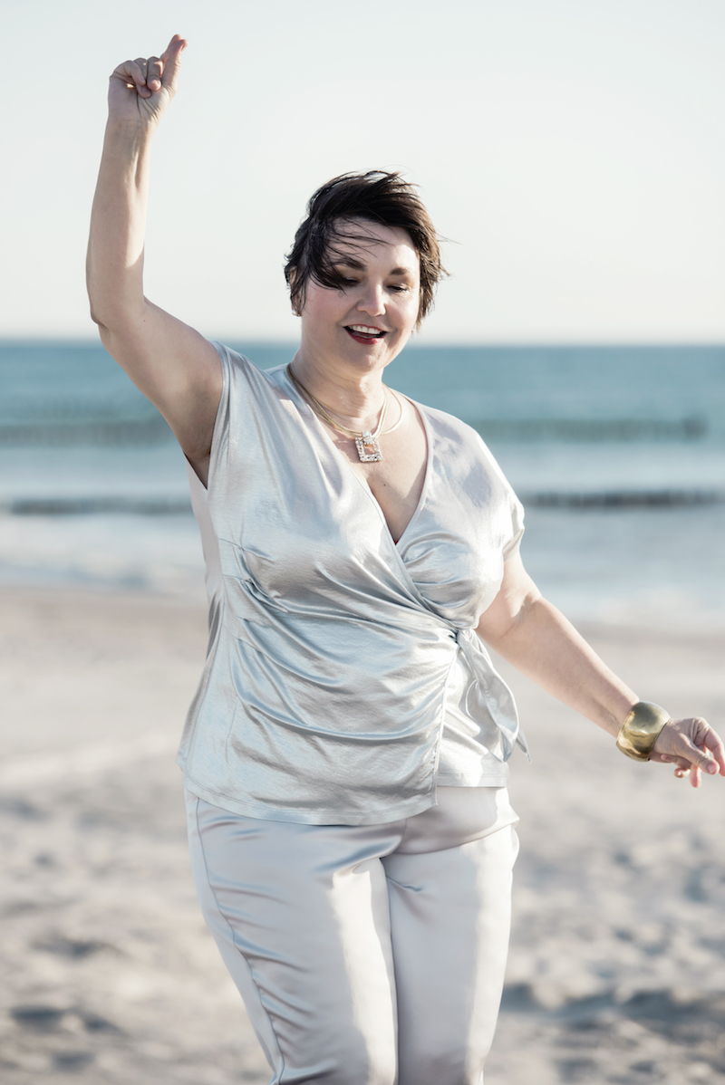 Texterella im Silberlook - das Outfit für die nächste Party!