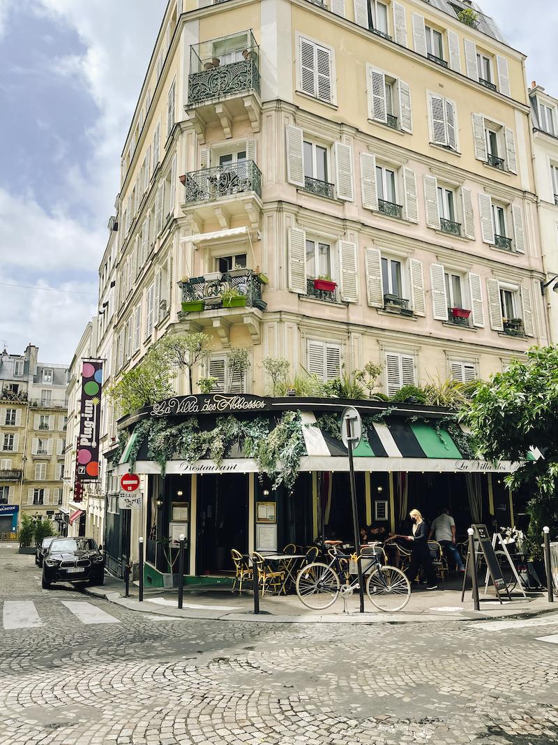 Malerisches Straßenbild vom Montmartre