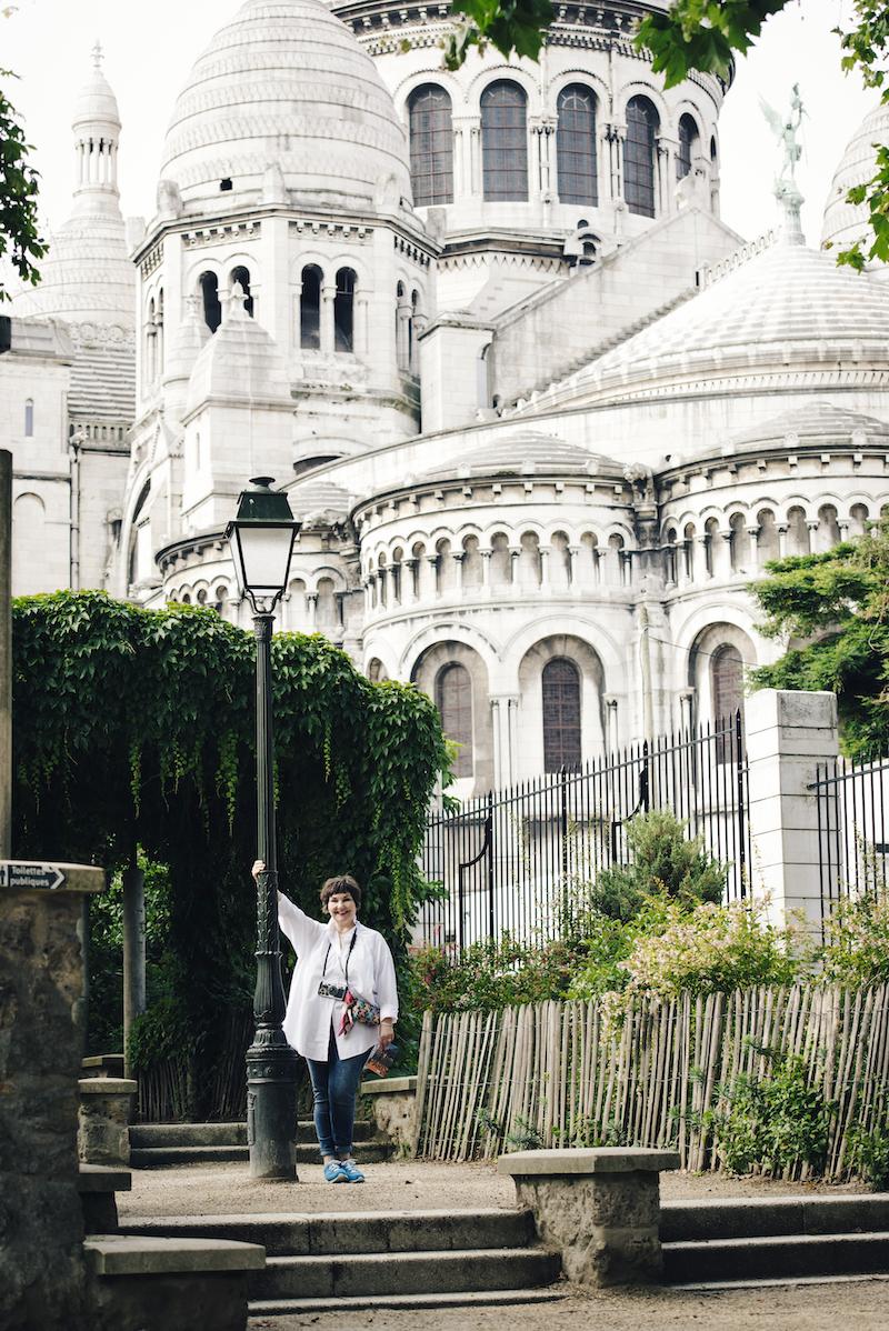 Susanne Ackstaller vor Sacré-Coeur