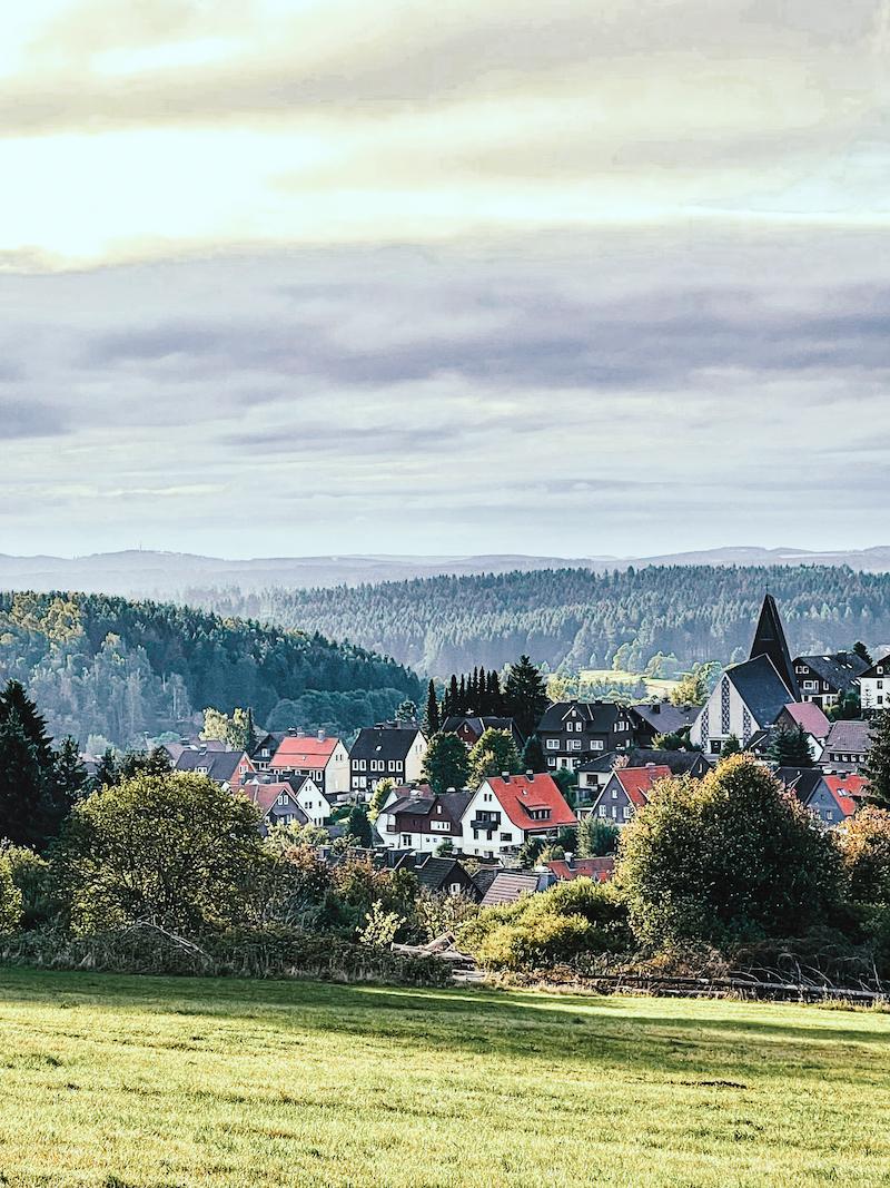 Texterella besucht den Harz: Blick auf Braunlage