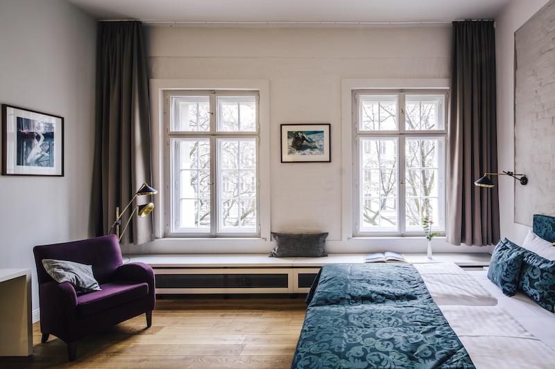 Susanne Ackstaller Texterella im Hotel Oderberger in Berlin - die Zimmer