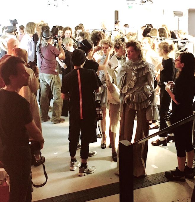 Backstage bei Anne Sofie Madsen