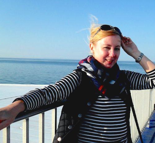 Christine Lawens, 2014, am Meer.