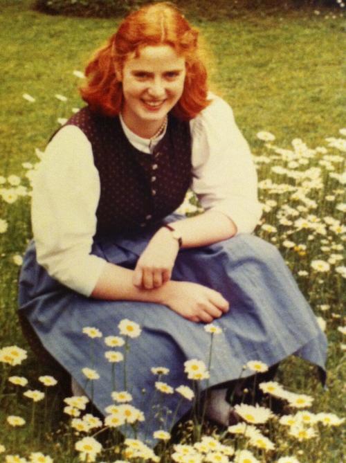 Catherina Wilhelm im Dirndl, 1981