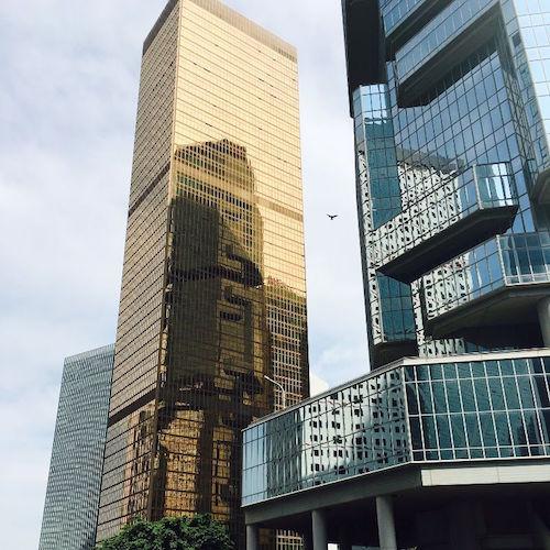 Gebäude im Bankenviertel