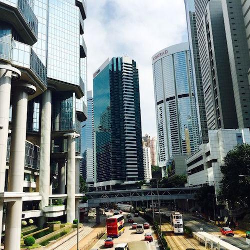 Bankenviertel in Hongkong