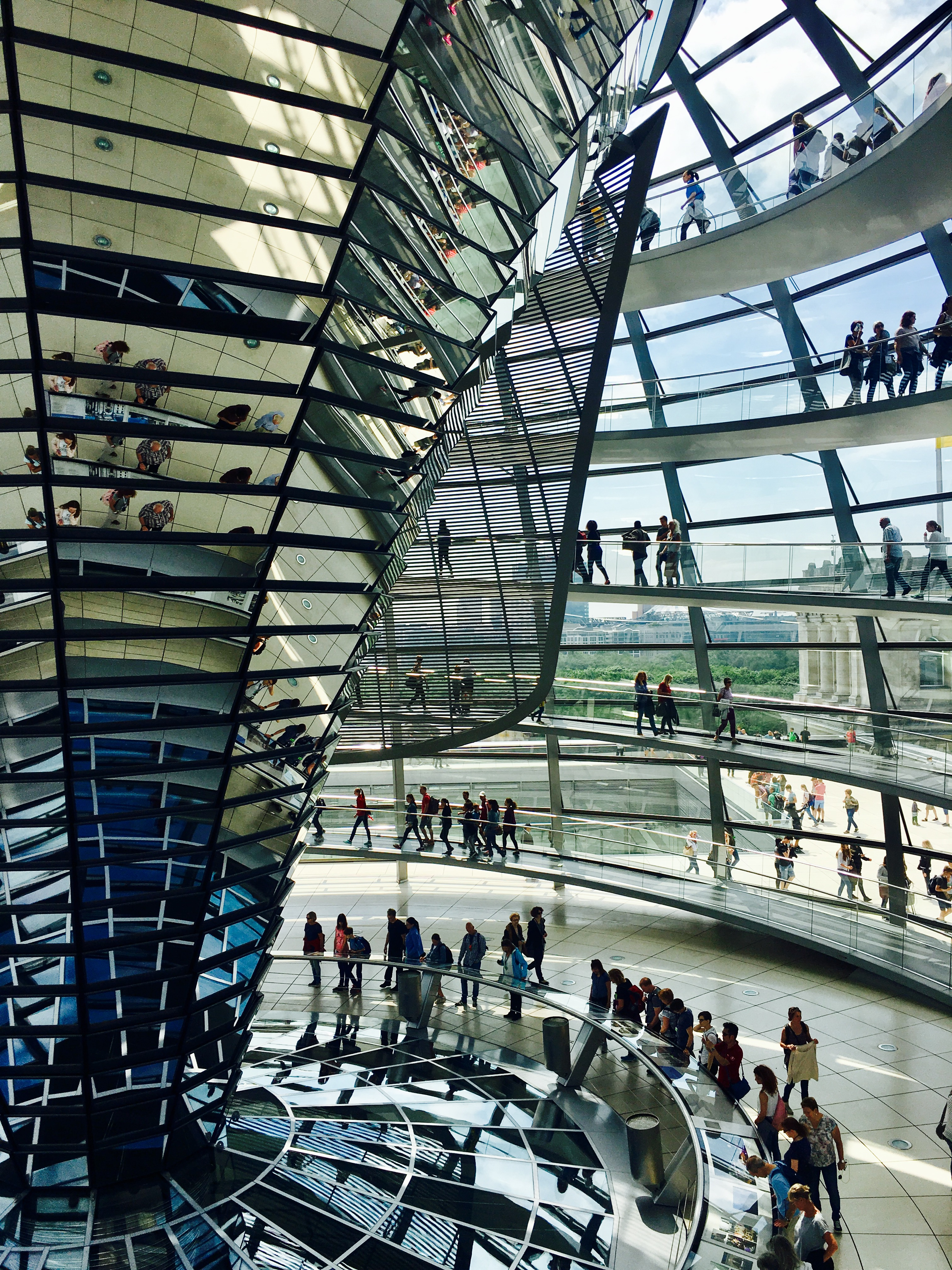 Die Kuppel des Reichstags. Für mich ein Symbol des Friedens.