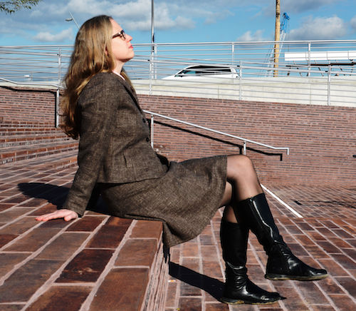 Isabel Bogdan modelt für Annette Rufeger
