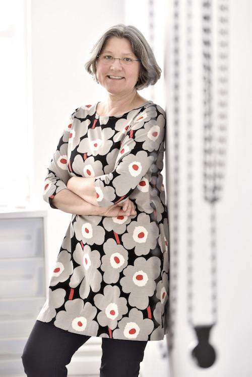 Janne Klöpper. Texterin, Moderatorin, Dozentin. Foto: Sandra Wille.
