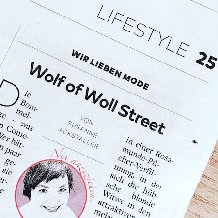 Wolf of Woll Street. Ein Modekolumne über Bommelmützen.