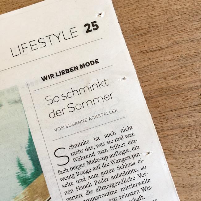 Meine Mode- und Lifestyle-Kolumne für die WELT KOMPAKT: So schminkt der Sommer.