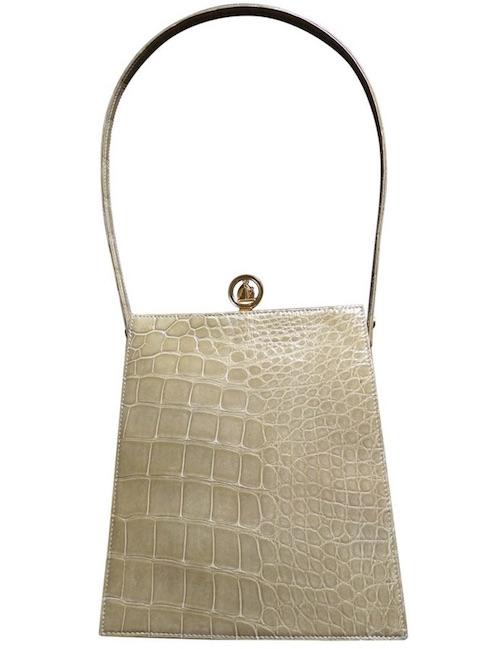 weiße Vintage-Tasche von Lanvin