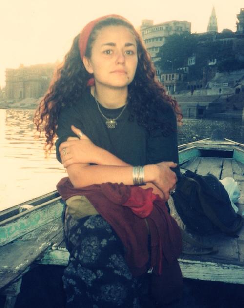 Mit Anfang auf dem Ganges in Indien