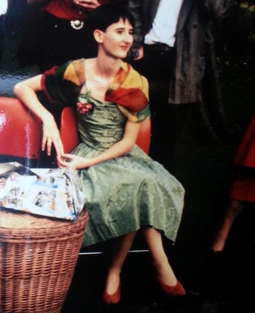 Nathalie Bromberger im Hochzeitskleid