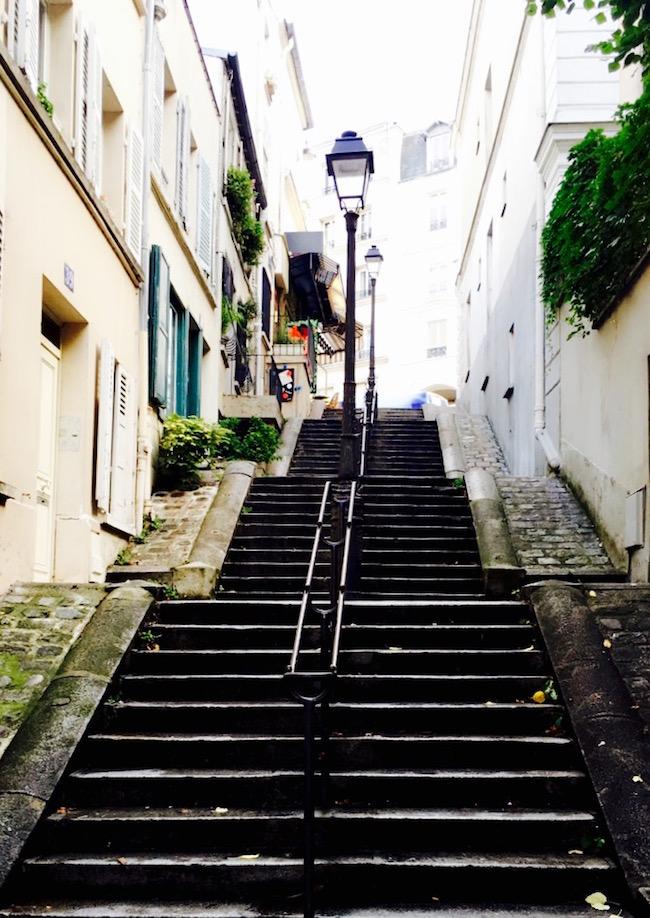 Paris. Treppen am Montmartre