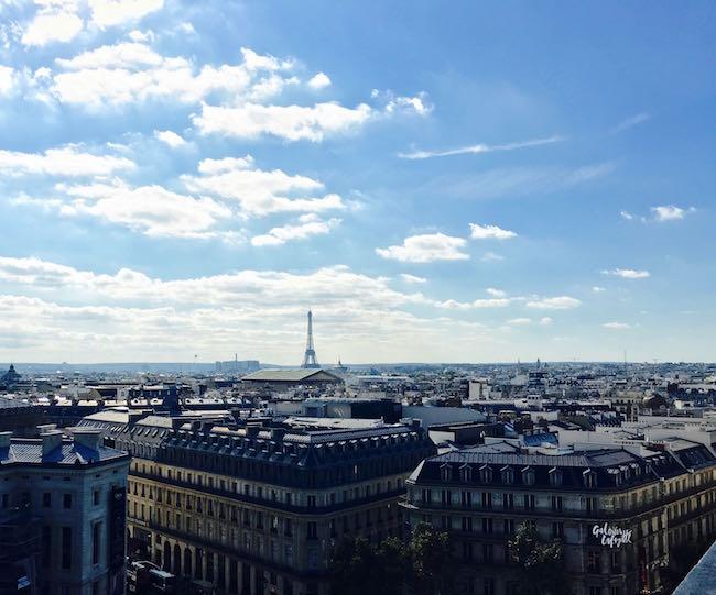 Paris. Blick auf die Stadt mit dem Eiffelturm