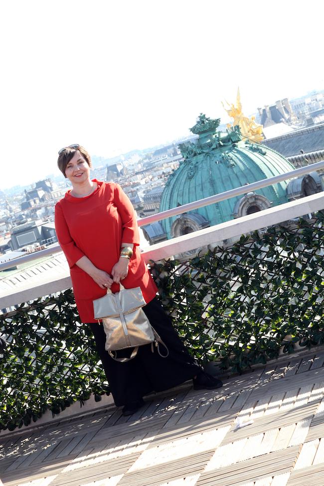 Paris. Blick von der Dachterrasse der Galeries Lafayette