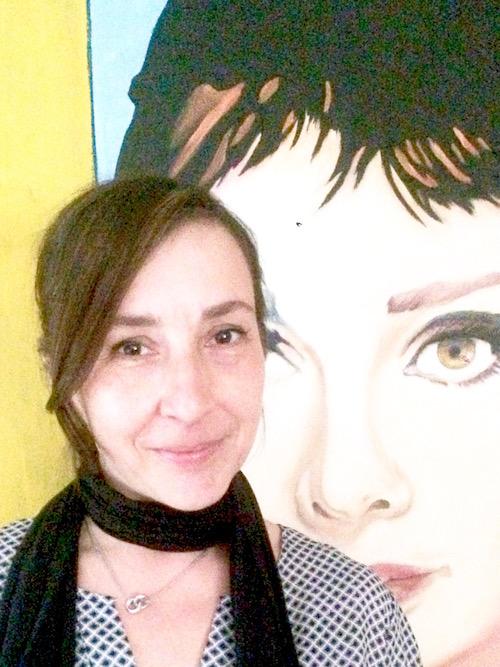 Petra Lehmann mit Audrey Hepburn