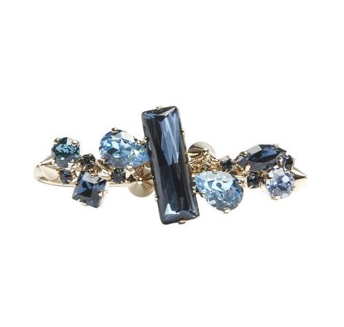 Armband von Philipp Plein in opulentem saphirfarbenem Strass