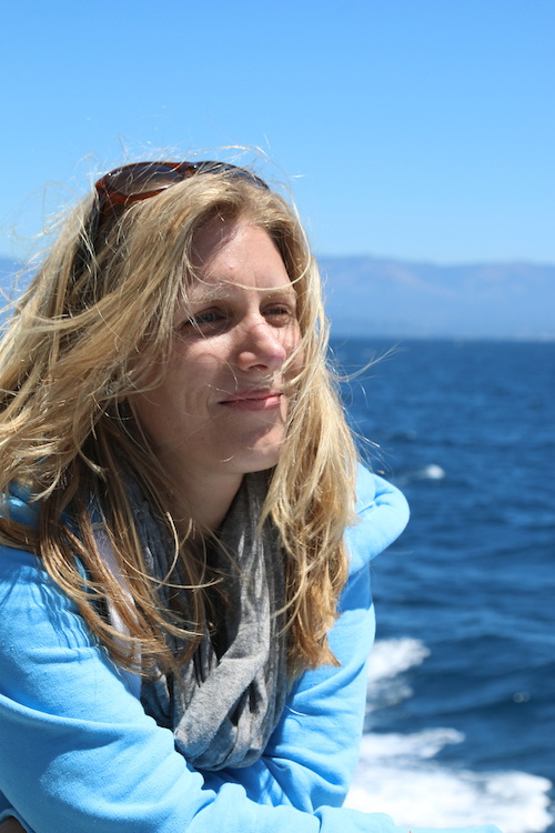Ricarda Nieswandt, Kalifornien 2014. Im Hintergrund der pazifische Ozean