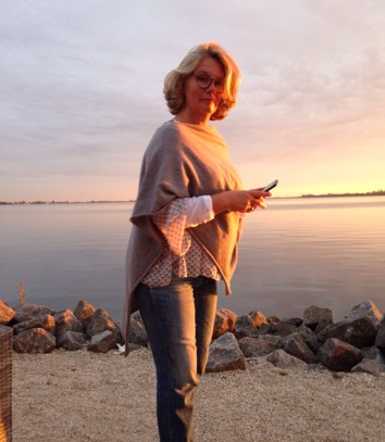 Sabine Pieroth am Meer