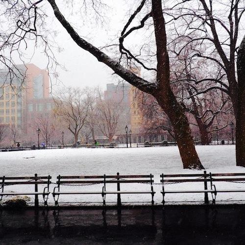 Schnee im West Village
